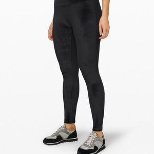 New with tags. Black velvet lululemon pants.